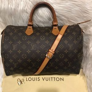 Authentic Louis Vuitton Speedy 35 Tote #3.2L